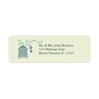 Whimsical Birdcage Wedding Avery Label label