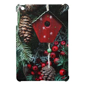 Whimsical Birdhouse Christmas Tree Decoration Cover For The iPad Mini