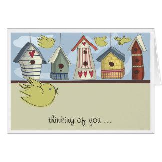 Whimsical Birdhouses Notecard Greeting Card