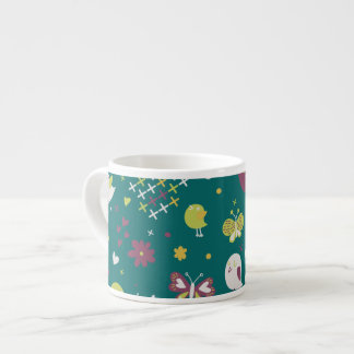 Whimsical Birds and Butterflies Espresso Cup