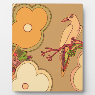 Whimsical Birds (Any color you pick!) Plaque
