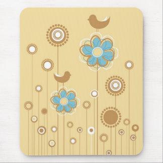 Whimsical Birds & Flowers Mousepad