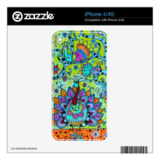 WHIMSICAL BIRDS_PEACOCK DECAL FOR iPhone 4S