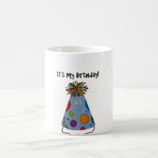 Whimsical Birthday Hat It's My Birthday Cute Gift Coffee Mug