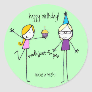 Whimsical Birthday Wishes Stickers