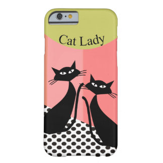 Whimsical Black Cat Art Barely There iPhone 6 Case
