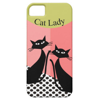 Whimsical Black Cat Art iPhone 5 Cases