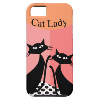 Whimsical Black Cat Art iPhone 5 Cover