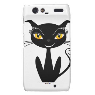 Whimsical Black Cat Droid RAZR Covers