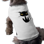 Whimsical Black Cat Pet Tee