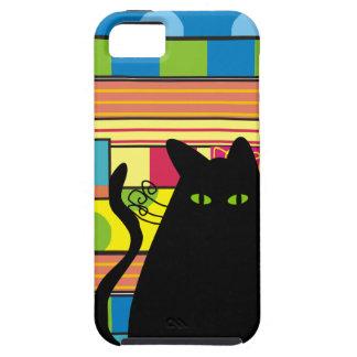 "Whimsical Black Cat  ""The Fat Cat"" iPhone SE/5/5s Case"
