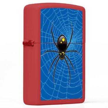 Halloween Themed Whimsical Black Spider ZIPPO® Pocket Lighter