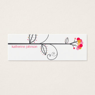 Whimsical Bloom Tree Dots Colorful Profile Card