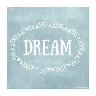 Whimsical Blue Dream On Canvas