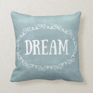 Whimsical Blue Dream Throw Pillow