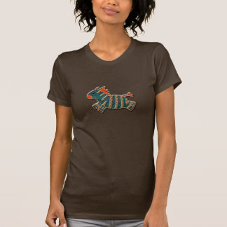 Whimsical Blue & Orange Zebra T-Shirt