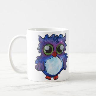 Whimsical Blue Owl Mug - Wide Awake Now!