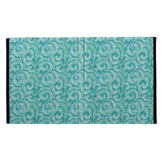 whimsical blue pattern iPad folio covers