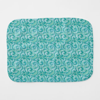 whimsical blue pattern baby burp cloths
