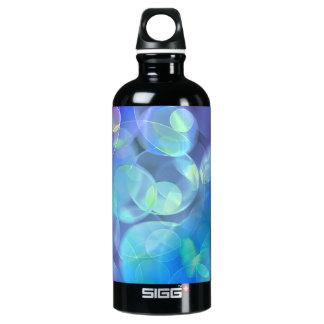 Whimsical Blue Spots Abstract Art Aluminum Water Bottle
