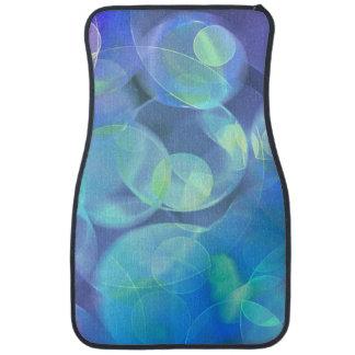 Whimsical Blue Spots Abstract Art Car Floor Mat