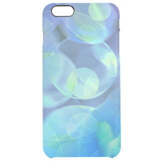 Whimsical Blue Spots Abstract Art Clear iPhone 6 Plus Case