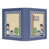Whimsical Blueberry Girl Design binder