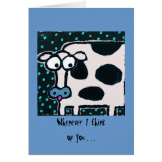 whimsical blushing cow cards