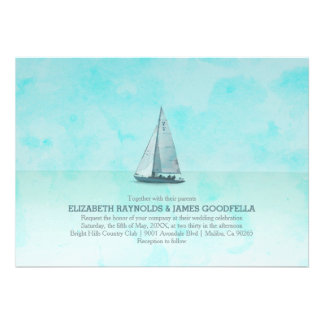 Whimsical Boat Wedding Invitations Invite
