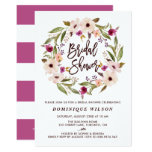 Whimsical Bohemian Floral Wreath Bridal Shower Card at Zazzle
