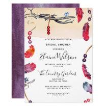 Whimsical Bohemian free spirit Bridal Shower Card