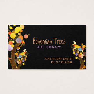 Whimsical Boho Trees Business Appointment Cards