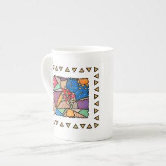 Whimsical Bone China Multicolored Design Tea Cup