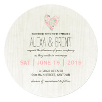 Whimsical Botanical Wedding Invitations