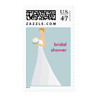 Whimsical Bridal Shower Postage