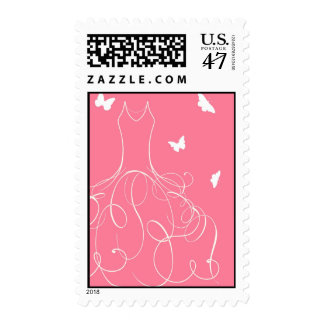 Whimsical Bride Guava Postage
