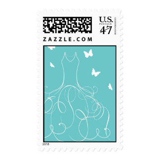 Whimsical Bride Postage
