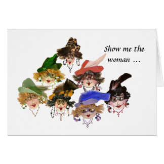 Whimsical Bridge Ladies Card