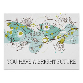 Whimsical Bright Future Poster
