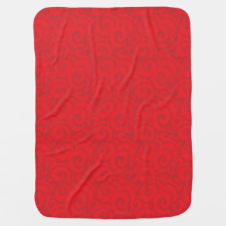 whimsical bright red pattern baby blankets