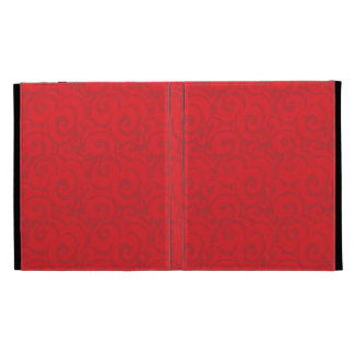 whimsical bright red pattern iPad cases