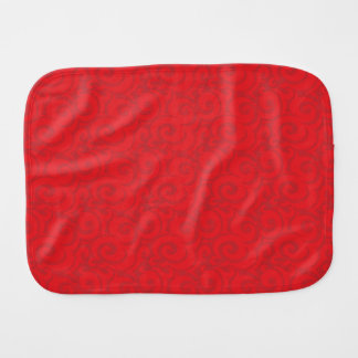 whimsical bright red pattern burp cloth