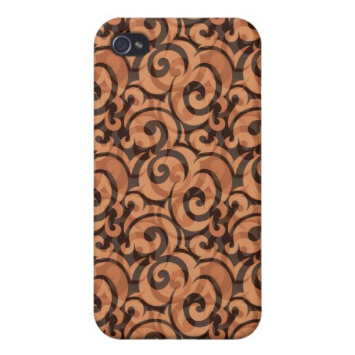 whimsical brown pattern iPhone 4 cover