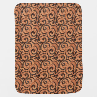 whimsical brown pattern receiving blankets