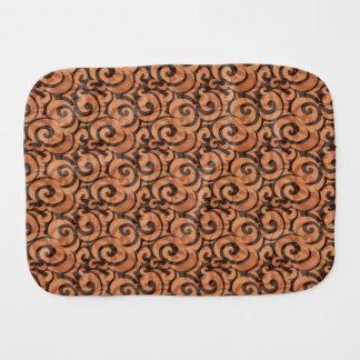 whimsical brown pattern burp cloth
