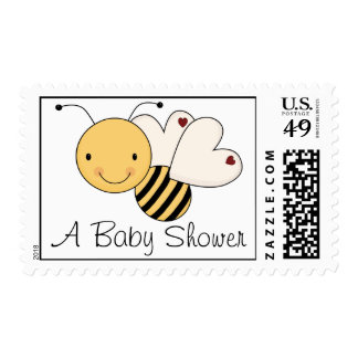 Whimsical Bumble Bee Baby Shower Stamp