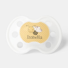 Whimsical Bumble Bee Personalized Pacifier at Zazzle