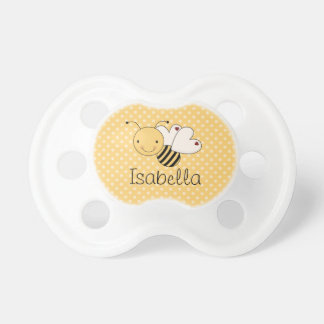 Whimsical Bumble Bee Personalized Pacifier