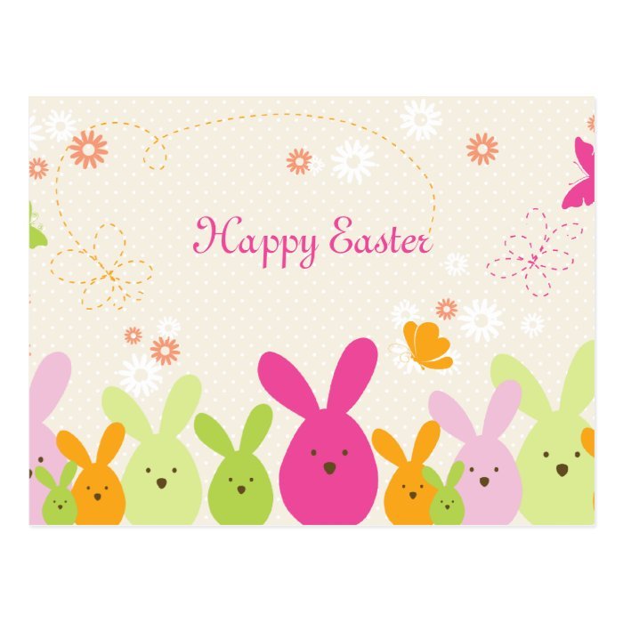 happy easter bunnies flowers - photo #23