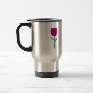 Whimsical Burgundy Tulip Mug